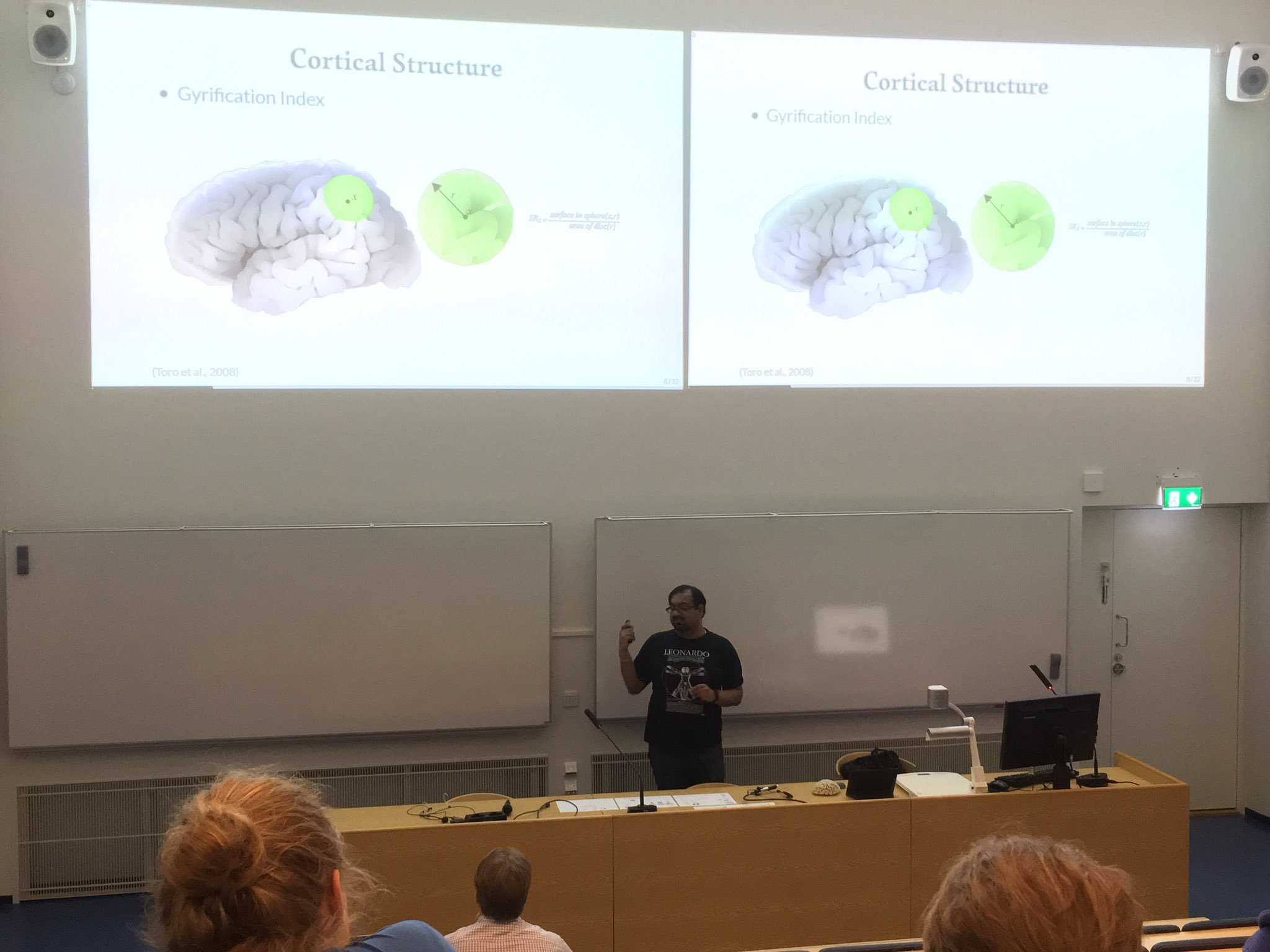 Invited talk and workshop on computational neuroanatomy at Aalto University (Finland)